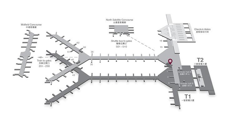 香港機場平面圖